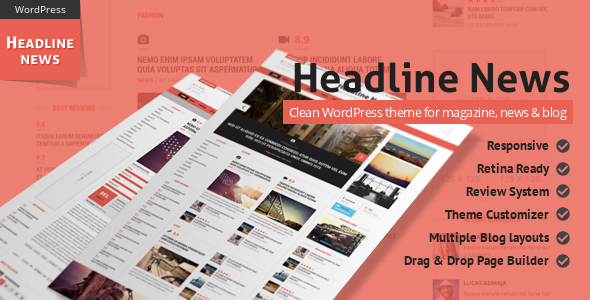 Headline New - WordPress Magazine Theme