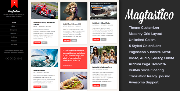 Magtastico - WordPress Magazine Theme