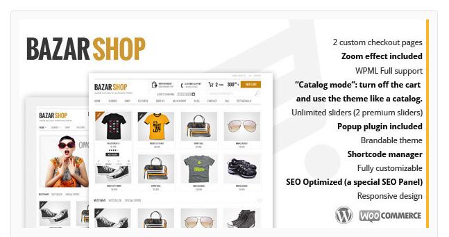 BazarShop - Best Ecommerce WordPress Theme