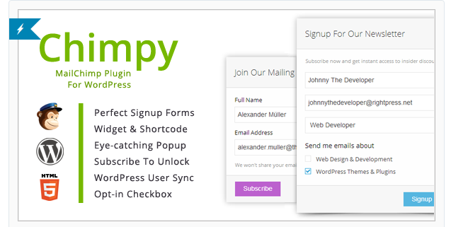 Chimpy - WordPress Newsletter Plugin