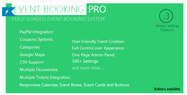 Event Booking Pro - Best WordPress Booking Plugin