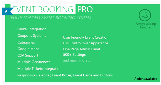Event Booking Pro - WordPress Calendar Plugin
