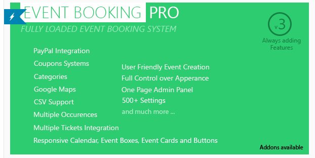 Event Booking Pro - WordPress Events Plugins