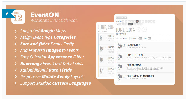 EventOn - Best WordPress Calendar Plugin