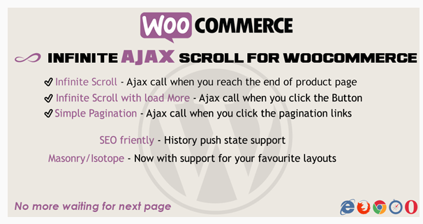 Infinite Scroll For WooCommerce - WordPress eCoomerce Plugin