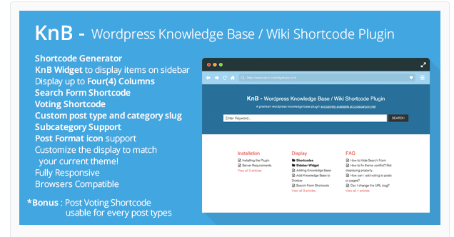KnB - WordPress Shortcode Plugin