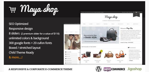 Maya Shop - Best Premium Ecommerce WordPress Themes