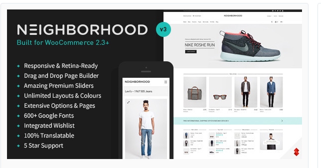 Neighborhood - Best Ecommerce WordPress Theme