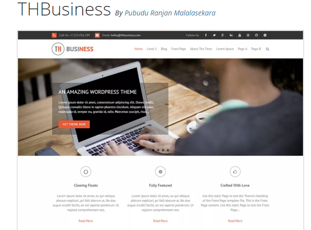 THBusiness - Best WordPress Business Theme