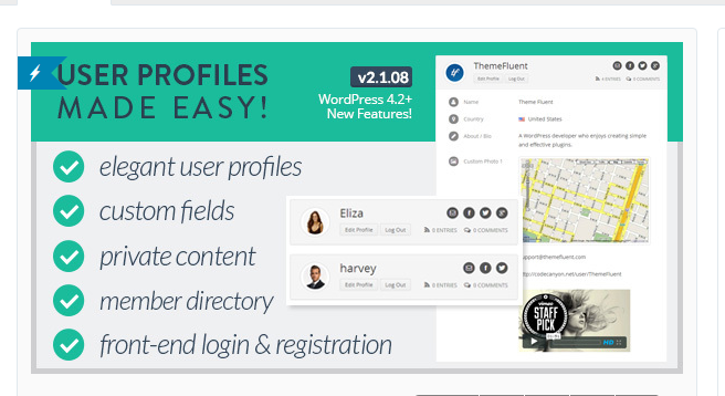 User Profiles Made Easy - WordPress Membership Plugin