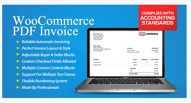 WooCommerce PDF Invoice - WordPress eCoomerce Plugin