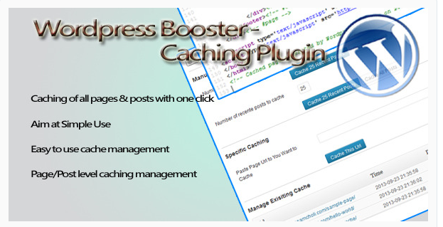 WordPress Booster-Caching Plugin - WordPress Cache Plugin