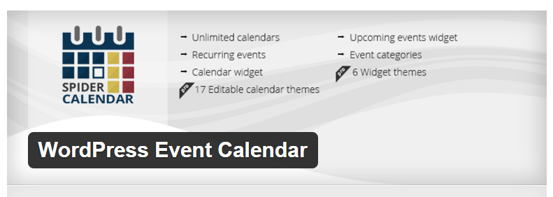 Spider Event Calendar - Best WordPress Calendar Plugin