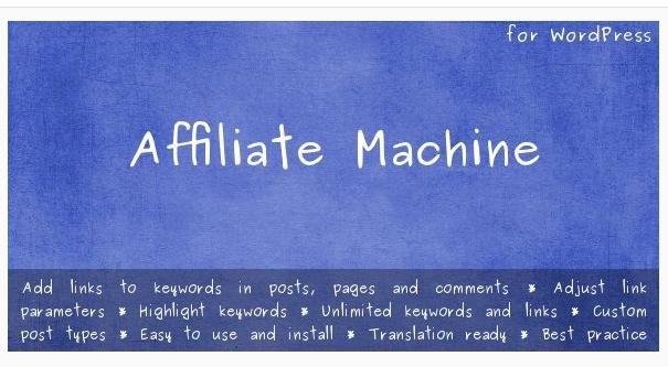 Affiliate Machine - WordPress Affiliate Plugin