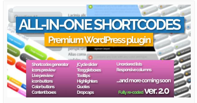 All-in-One Shortcodes - WordPress Shortcode Plugin