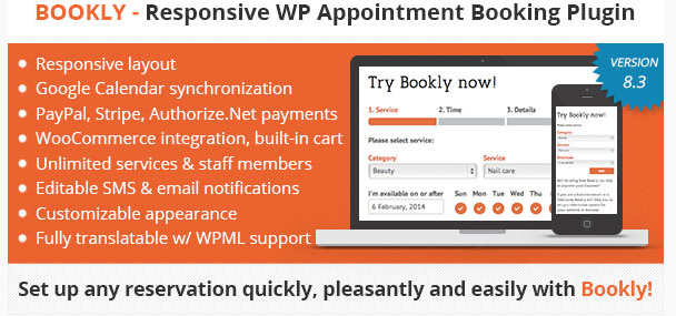 Bookly - WordPress Booking Plugin