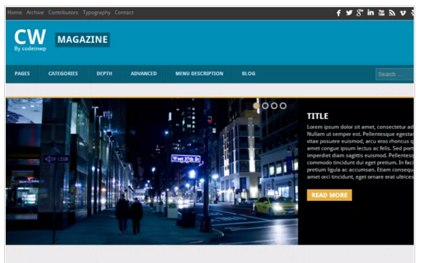 CW Magazine- Best WordPress Magazine Theme