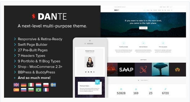 Dante - WordPress Business Theme