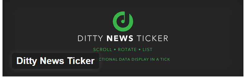 Dirty News Ticker - Best WordPress News Plugins