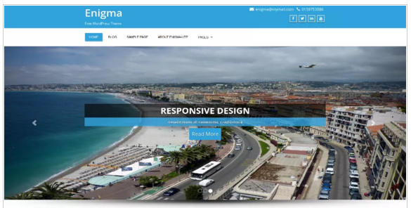 Enigma - Free Responsive WordPress Theme
