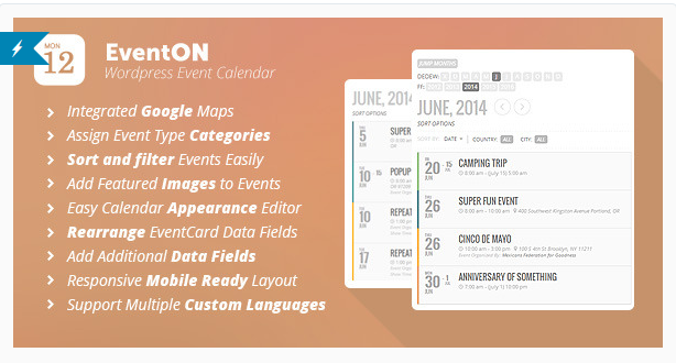 EventOn - Best WordPress Events Plugins