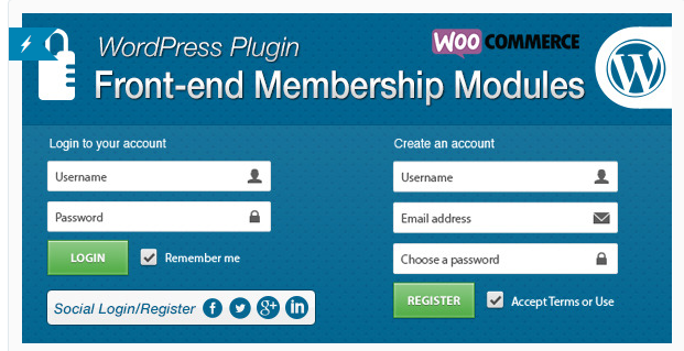 Front-end Membership Modules - WordPress Registration Plugin