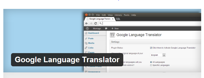 Google Language Translator - Best WordPress Translation Plugins