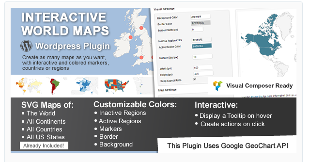 Interactive World Maps - WordPress Map Plugin
