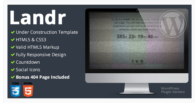 Landr - WordPress Landing Page Plugin