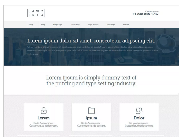 Lawyeria Lite - Responsive WordPress Theme