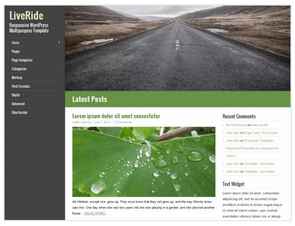Live Ride - Free eCommerce WordPress Themes