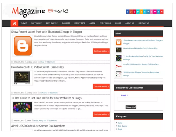 Magazine Style- Best WordPress Magazine Theme