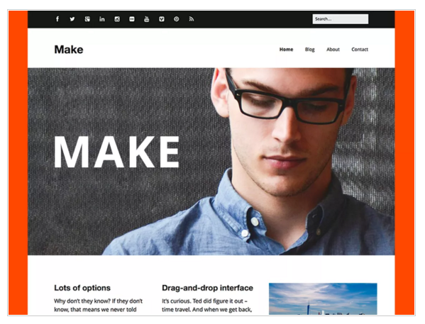 Make - Free Responsive WordPress Theme
