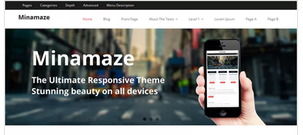 Minamaze - Best Free Responsive WordPress Theme