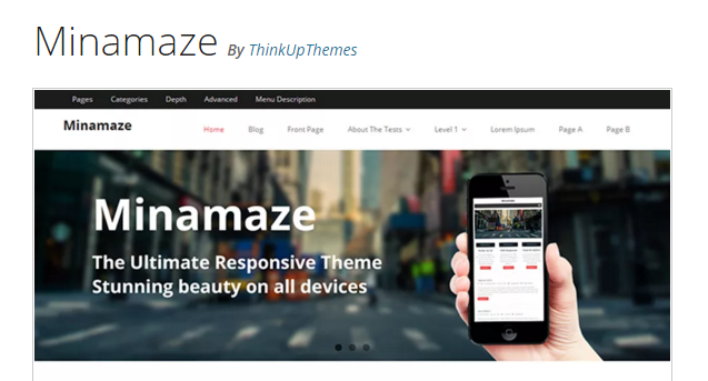 Minamaze - WordPress Business Theme