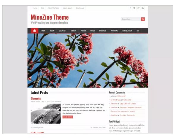 MineZine - eCommerce WordPress Themes