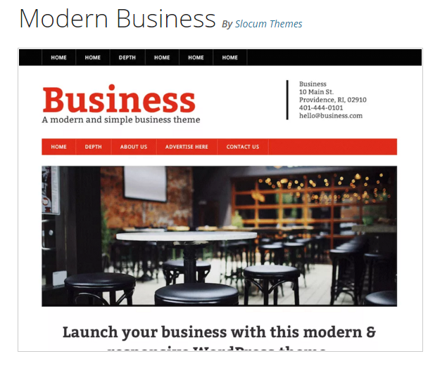 Modern Business - WordPress Business Theme