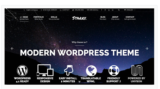Starry - Modern Responsive WordPress Theme