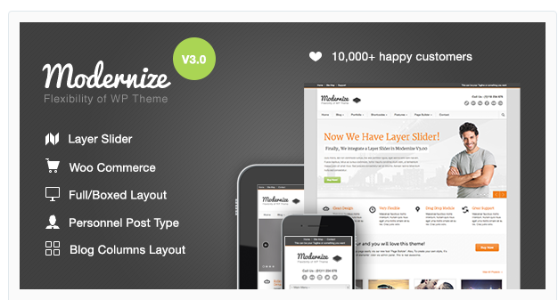Modernize - Responsive WordPress Theme