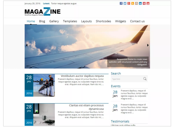 News Magazine - WordPress Magazine Theme