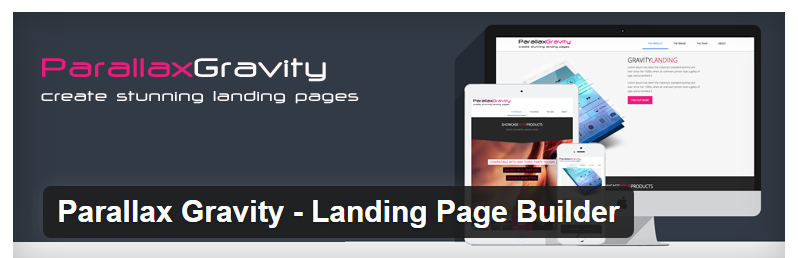 Parallax Gravity - Best WordPress Landing Page Plugin