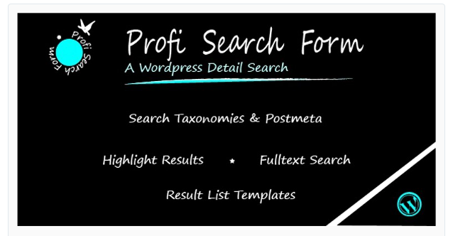 Profi Search Form - Best WordPress Search Plugin