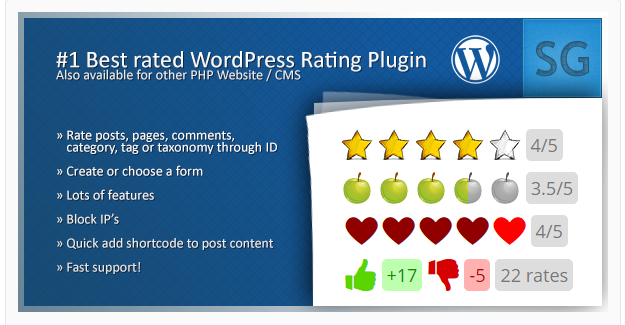 Rating Form - WordPress Rating Plugins
