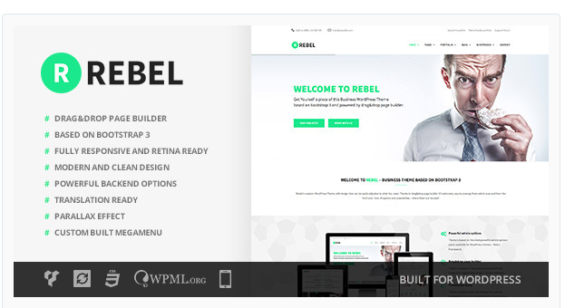 Rebel - WordPress Business Theme