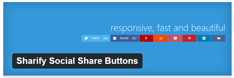 Sharify Social Share Buttons - Best WordPress Social Sharing Plugin