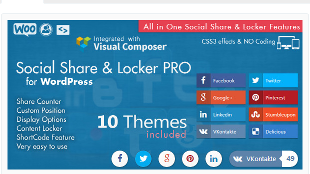 Social Share & Locker Pro - WordPress Social Sharing Plugin