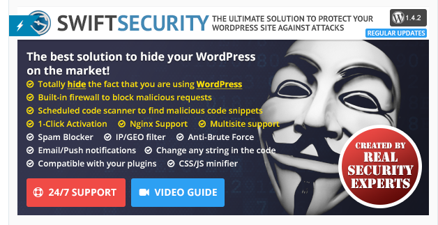 SwiftSecurity - WordPress Security Plugin