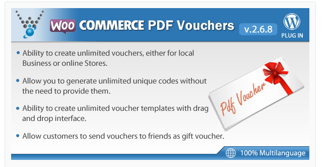 WooCommerce PDF Vouchers - Best Coupon WordPress Plugin