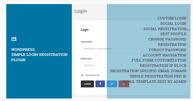 WordPress Simple Login Registration - WordPress Registration Plugin