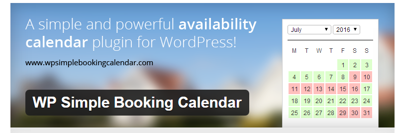 WP Simple Booking Calendar - Best WordPress Booking Plugins